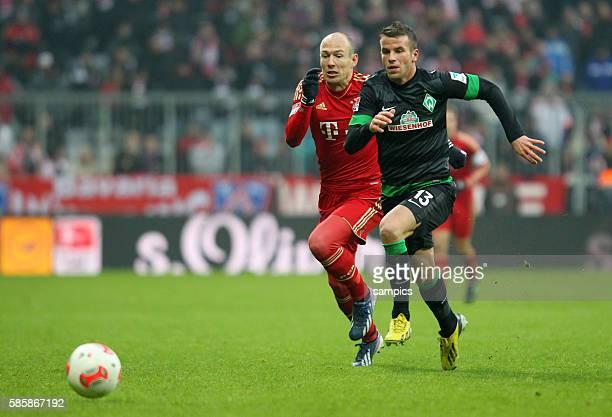 Arjen Robben vs Lukas Schmitz 1 FußballBundesliga FC Bayern München vs Werder Bremen