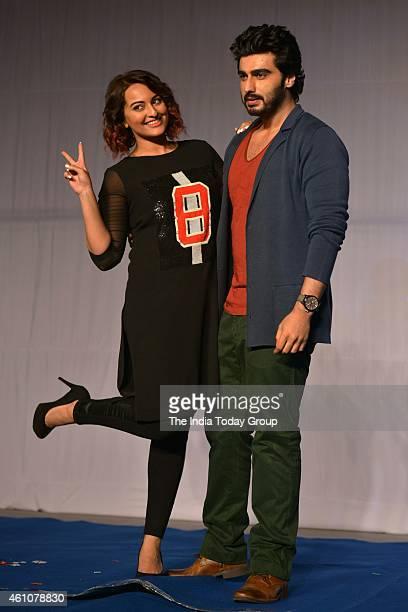 Arjun Kapoor and Sonakshi Sinha at the movie promotion of their upcoming film Tewar at IIT Powai in Mumbai