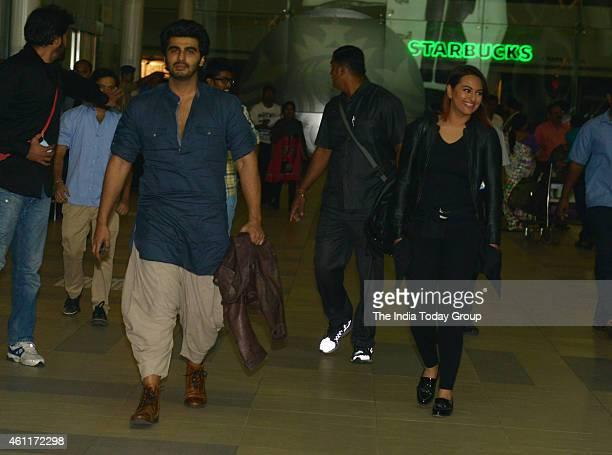 Arjun Kapoor and Sonakshi Sinha coming back from 'Tevar' film promotion