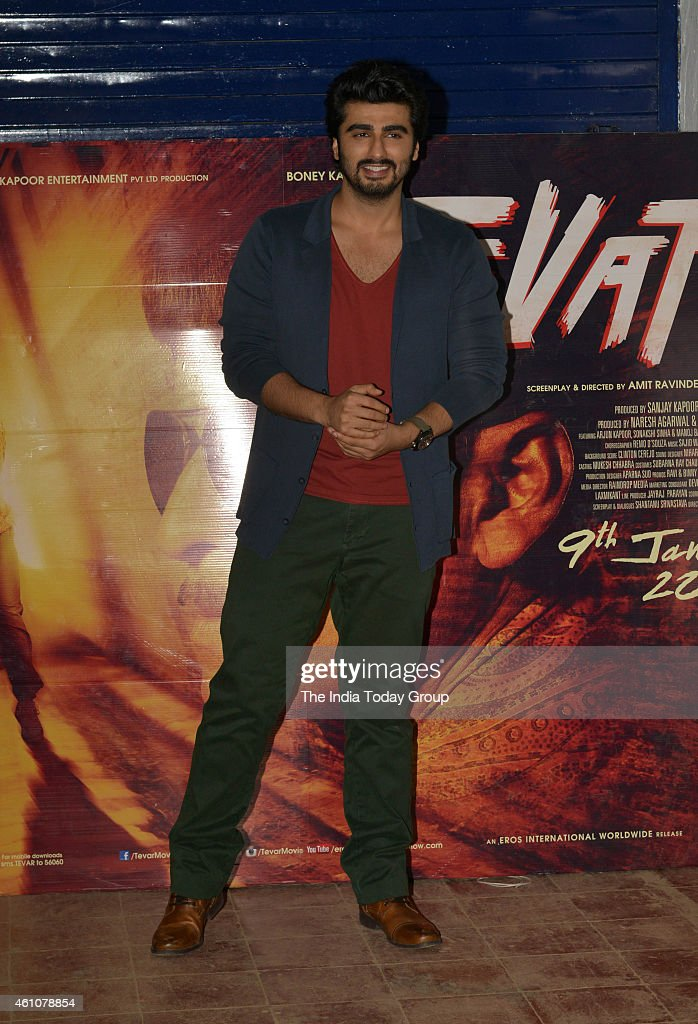 <a gi-track='captionPersonalityLinkClicked' href=/galleries/search?phrase=Arjun+Kapoor&family=editorial&specificpeople=6147223 ng-click='$event.stopPropagation()'>Arjun Kapoor</a> at the movie promotion of their upcoming film Tewar at IIT Powai in Mumbai.