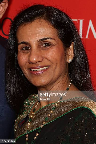 Arjun Kochhar and ICICI Bank CEO Chanda Kochhar attend the 2015 Time 100 Gala at Frederick P Rose Hall Jazz at Lincoln Center on April 21 2015 in New...