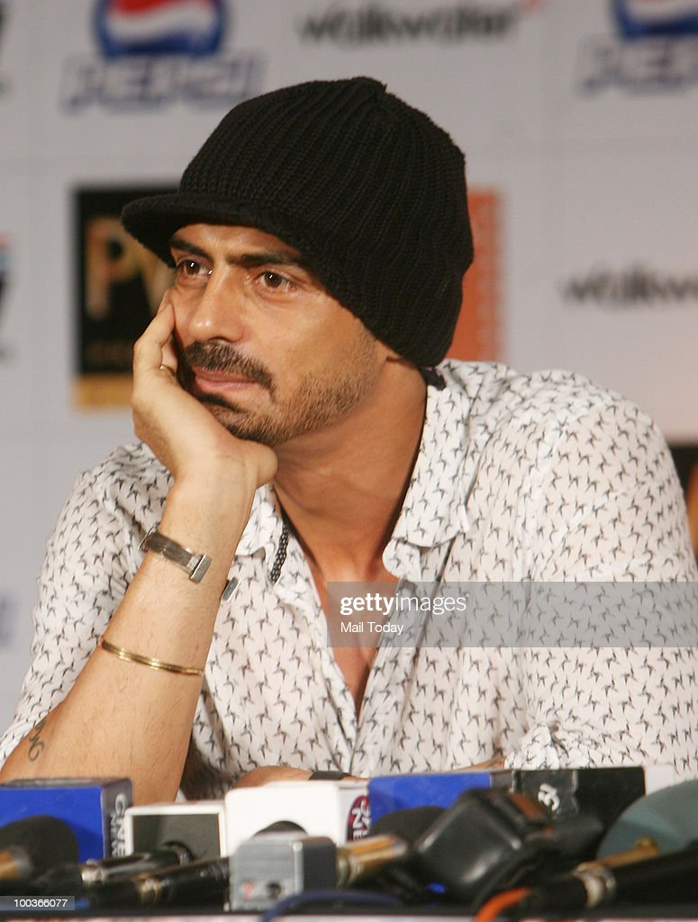 Arjun Rampal at a promotional evnt for the film Rajneeti in New Delhi on May 20, 2010.
