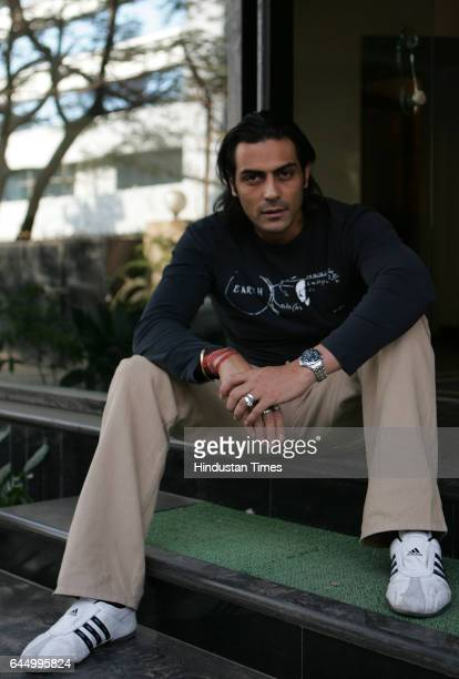 Arjun Rampal in the Humko Tumse Pyaar Hai Film Pramotion which will br Relesed on 24th of Feb at In House Stuido Andheri