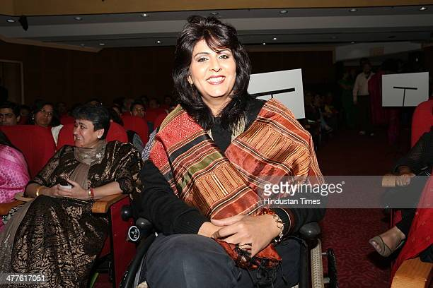 Arjuna Awardee International Para athlete Deepa Malik during Limca Book of Records' People of the Year 2014 award function on March 6 2014 in New...