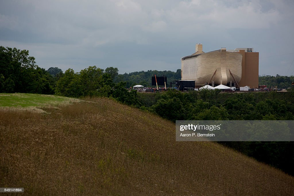 Ark Encounter is seen July 5, 2016 in Williamstown, Kentucky. Ark Encounter is a theme park centered around a 510 foot long reproduction of Noah's Ark.