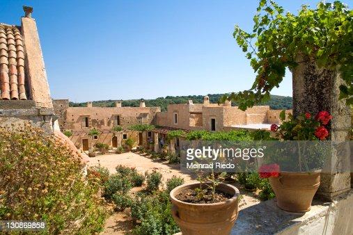 Arkadi Monastery, Iraklion (Heraklion), Crete, Greece, Europe