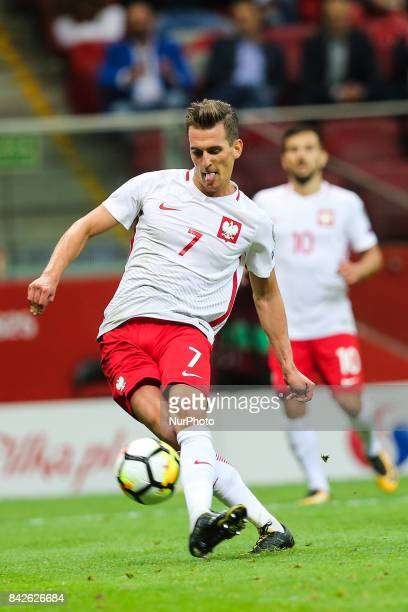 Arkadiusz Milik during the FIFA World Cup 2018 qualification match between Poland and Kazakhstan in Warsaw on September 4 2017