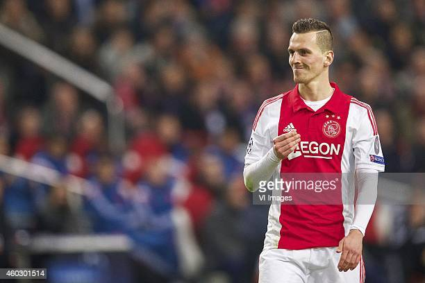Arkadiusz Milik of Ajax during the UEFA Champions League group F match between Ajax Amsterdam and Apoel Nicosia on December 10 2014 at the Amsterdam...