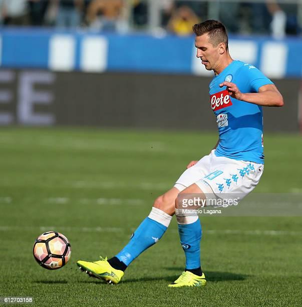Arkadiusz Milik of Napoli during the Serie A match between Atalanta BC and SSC Napoli at Stadio Atleti Azzurri d'Italia on October 2 2016 in Bergamo...