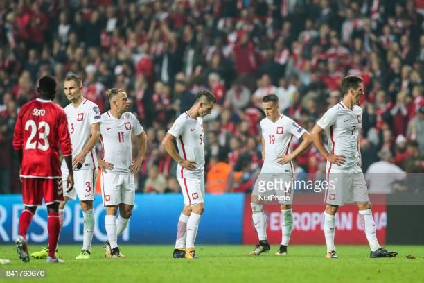 Arkadiusz Milik Piotr Zielinski Krzysztof Maczynski Kamil Grosicki Artur Jedrzejczyk Pione Sisto during the FIFA 2018 World Cup Qualifier between...