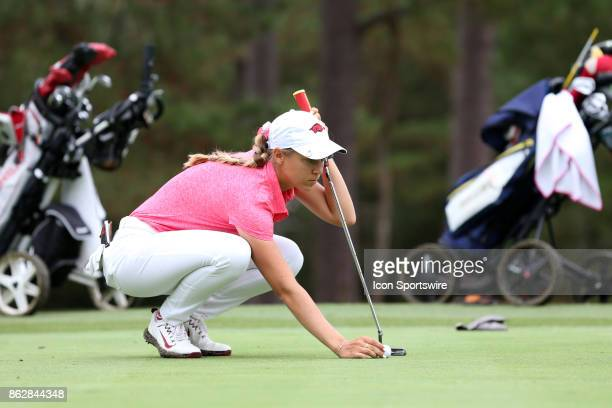Arkansas' Cara Gorlei on the 3rd green during the first round of the Ruth's Chris Tar Heel Invitational Women's Golf Tournament on October 13 at the...