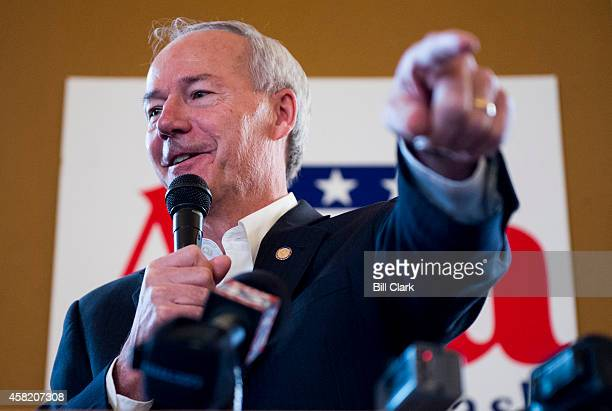 Arkansas Gubernatorial candidate Asa Hutchinson speaks during the Republican campaign rally at Sues Kitchen in Jonesboro Ark on Friday Oct 31 2014