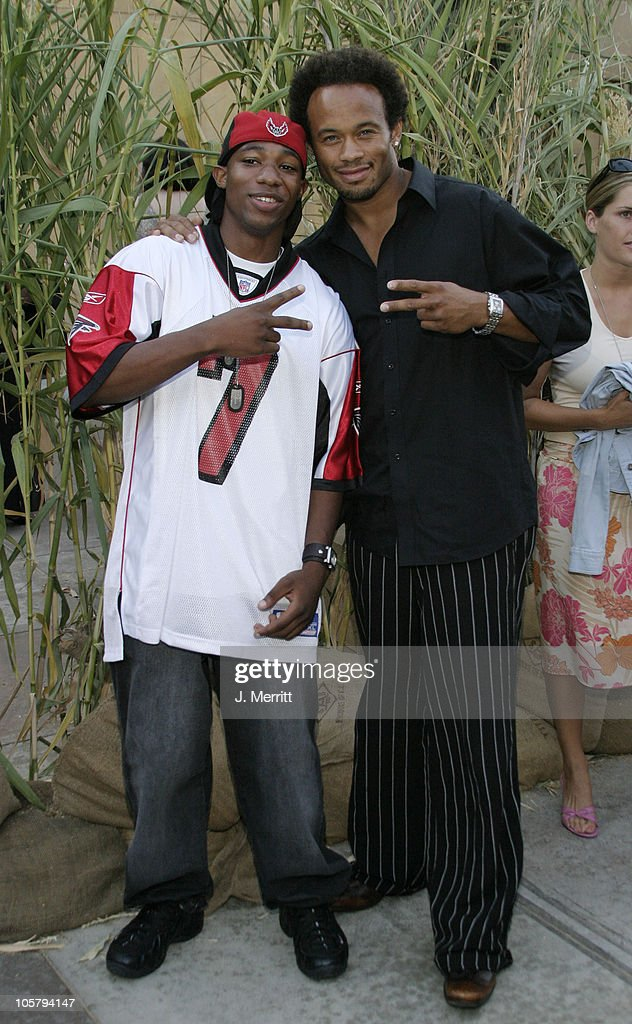 Arlen Escarpeta and Kiko Ellsworth during 'Jeepers Creepers 2' Hollywood Premiere at The Egyptian Theatre in Hollywood, California, United States.