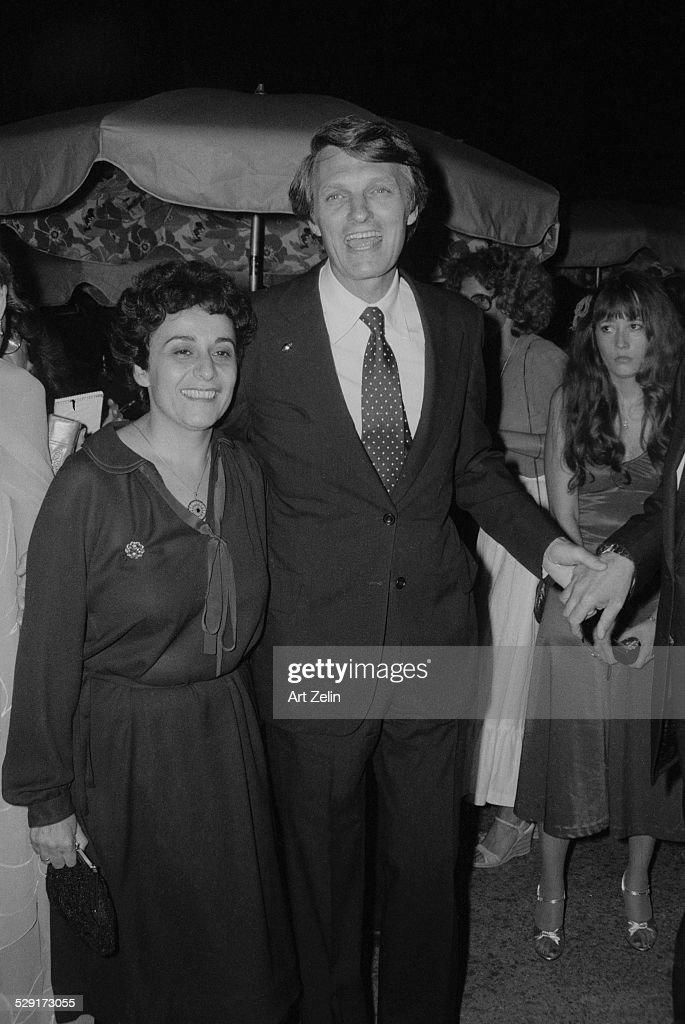 Arlene and Alan Alda at an outdoor party circa 1970 New York