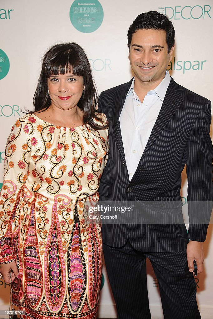 Arlene Angard of Arlene Angard Interior Design (L) and designer Asler Valero attend Housing Works 9th Annual Design On A Dime Benefit at Metropolitan Pavilion on April 25, 2013 in New York City.