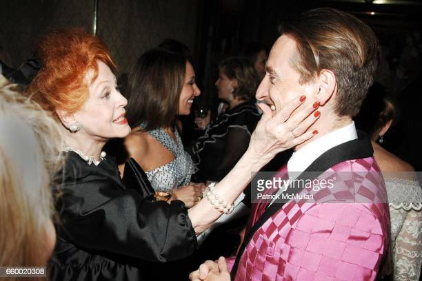 Arlene Dahl and Hamish Bowles attend Lighthouse International POSH Preview Benefit Dinner at Doubles Club on May 12 2009 in New York City