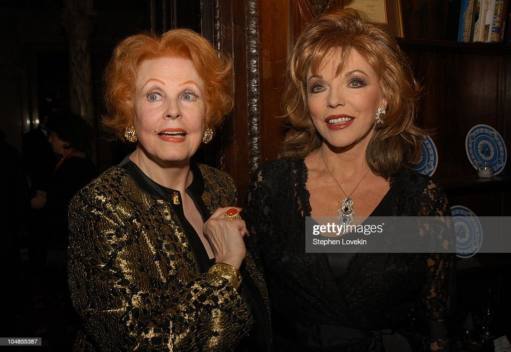 Arlene Dahl and Joan Collins during Official 2003 Academy of Motion Picture Arts and Sciences Oscar Night Party at Le Cirque 2000 at Le Cirque 2000 in New York, NY, United States.