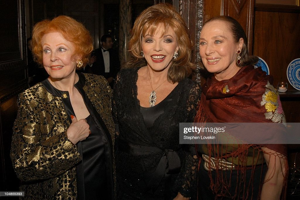 <a gi-track='captionPersonalityLinkClicked' href=/galleries/search?phrase=Arlene+Dahl&family=editorial&specificpeople=208163 ng-click='$event.stopPropagation()'>Arlene Dahl</a>, <a gi-track='captionPersonalityLinkClicked' href=/galleries/search?phrase=Joan+Collins&family=editorial&specificpeople=109065 ng-click='$event.stopPropagation()'>Joan Collins</a>, and Rita Gam during Official 2003 Academy of Motion Picture Arts and Sciences Oscar Night Party at Le Cirque 2000 at Le Cirque 2000 in New York, NY, United States.