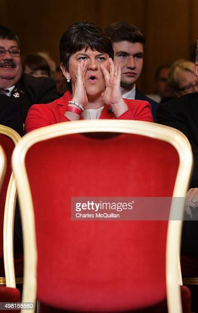 Arlene Foster during the Democratic Unionist Party annual conference at La Mon Hotel on November 21 2015 in Belfast Northern Ireland First Minister...