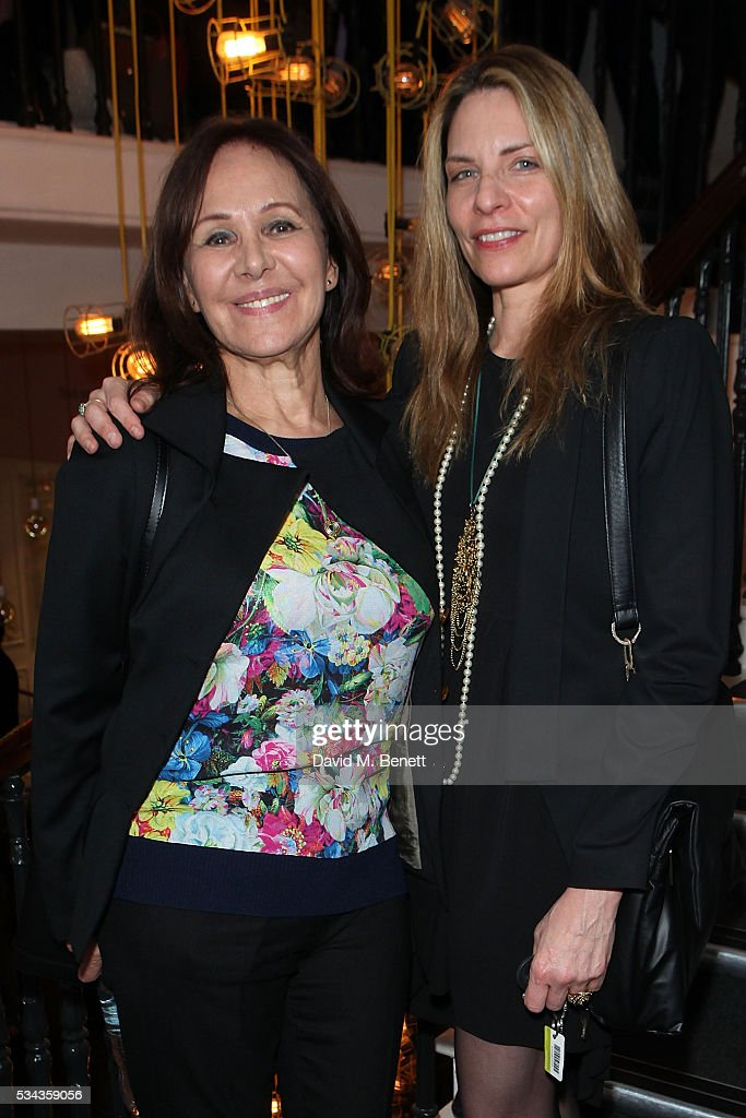 Arlene Phillips and Antonia Franceschi attend the press night after party for 'Jekyll Hyde' at The Old Vic Theatre on May 25 2016 in London England