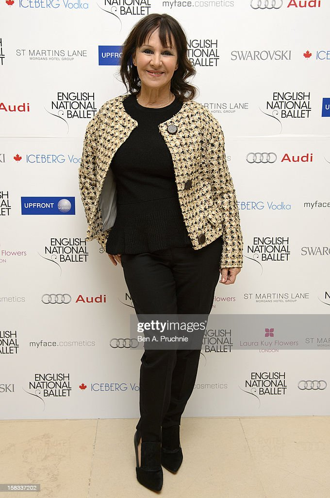 Arlene Phillips attends the English National Ballets Christmas Party at St Martins Lane Hotel on December 13, 2012 in London, England.