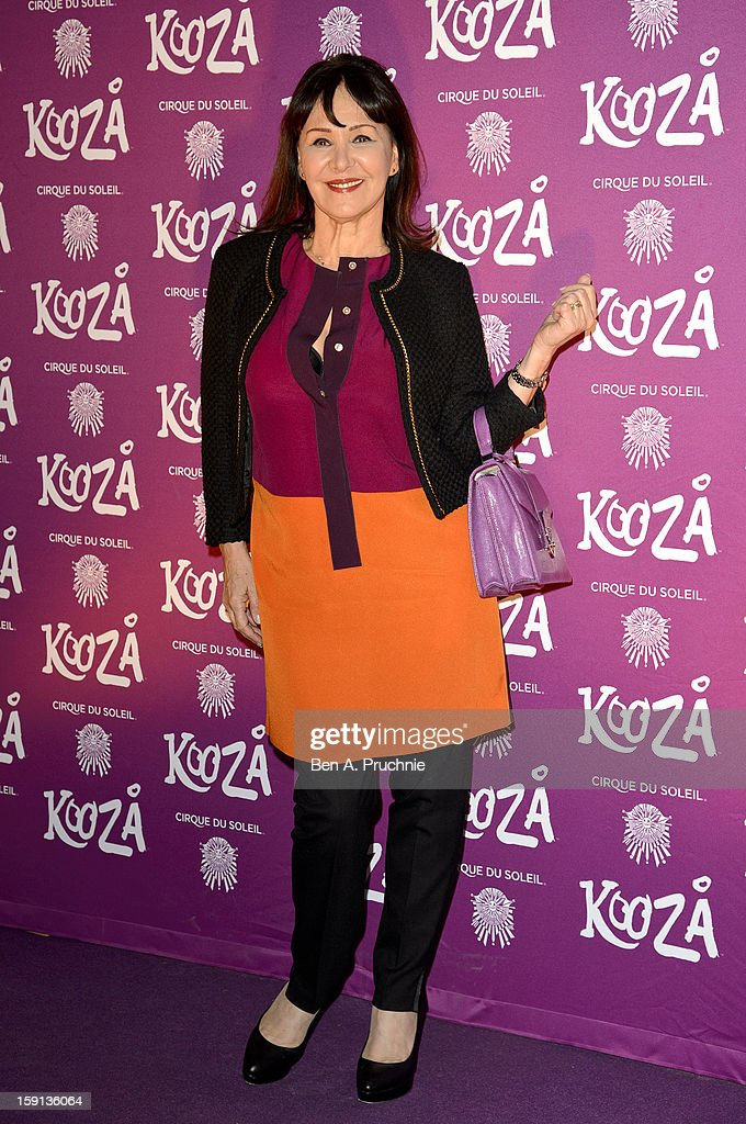 Arlene Phillips attends the opening night of Cirque Du Soleil's Kooza at the Royal Albert Hall on January 8, 2013 in London, England.