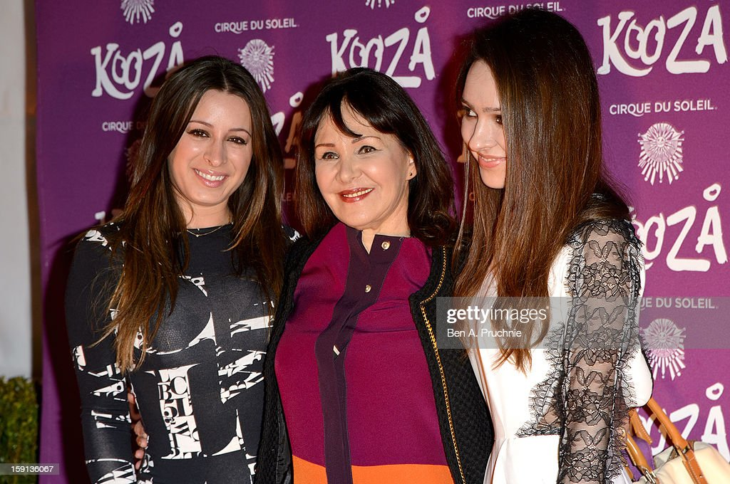 <a gi-track='captionPersonalityLinkClicked' href=/galleries/search?phrase=Arlene+Phillips&family=editorial&specificpeople=4116069 ng-click='$event.stopPropagation()'>Arlene Phillips</a> attends the opening night of Cirque Du Soleil's Kooza at the Royal Albert Hall on January 8, 2013 in London, England.