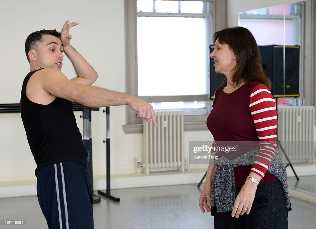 Arlene Phillips (R) choreographs and leads rehearsals of a dance routine to be performed at the Olivier Awards 2013, at The Old Finsbury Town Hall on April 25, 2013 in London, United Kingdom. The Olivier Awards 2013 with MasterCard are due to be held at the Royal Opera House on Sunday 28 April.