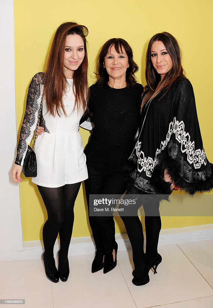 Arlene Phillips (C) with daughters Abi and Alana attend the English National Ballet Christmas Party at St Martins Lane Hotel on December 13, 2012 in London, England.