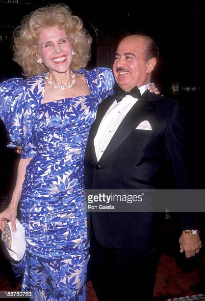 Arlene Walsh and Businessman Adnan Khashoggi attend the 'Winternight '89' Gala to Benefit the Lighthouse for the Blind AIDS Program on November 29...