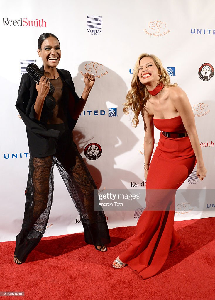 Arlenis Sosa and Petra Nemcova attend the 2016 Happy Hearts Fund Gala at Hammerstein Ballroom on June 16 2016 in New York City