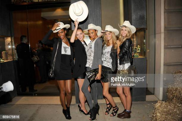 Arlenis Sosa Heather Marks R'el Dade Erin Heatherton and Julia Stegner attend DAVID YURMAN 'Fashion's Night Out' Western Hoedown at David Yurman on...