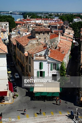 Arles aerial view Souther France brasserie restaurant