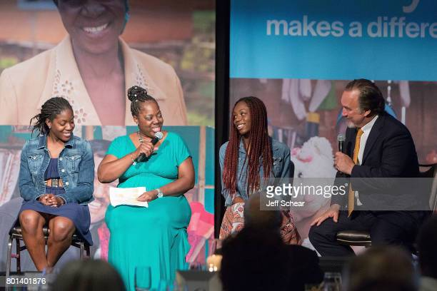 Arletta a Habitat homeowner for six years and her daughters Amari and Ambur recount the impact on her family to special guest Jim Belushi at the...