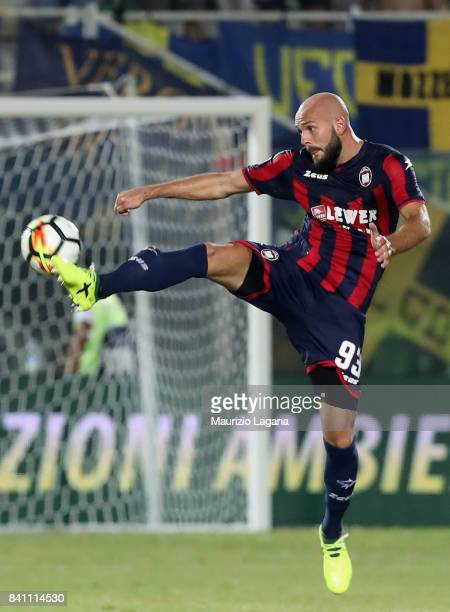 Arlind Ajeti of Crotone during the Serie A match between FC Crotone and Hellas Verona FC at Stadio Comunale Ezio Scida on August 27 2017 in Crotone...