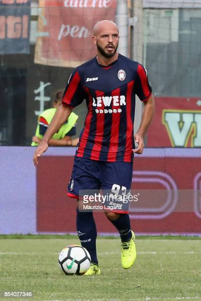 Arlind Ajeti of Crotone during the Serie A match between FC Crotone and Benevento Calcio at Stadio Comunale Ezio Scida on September 24 2017 in...