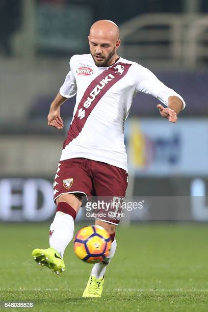 Arlind Ajeti of FC Torino in action during the Serie A match between ACF Fiorentina and FC Torino at Stadio Artemio Franchi on February 27 2017 in...