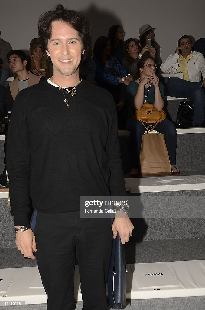 Arlindo Grund at the Forum show during Sao Paulo Fashion Week Summer 2013/2014 on March 19, 2013 in Sao Paulo, Brazil.