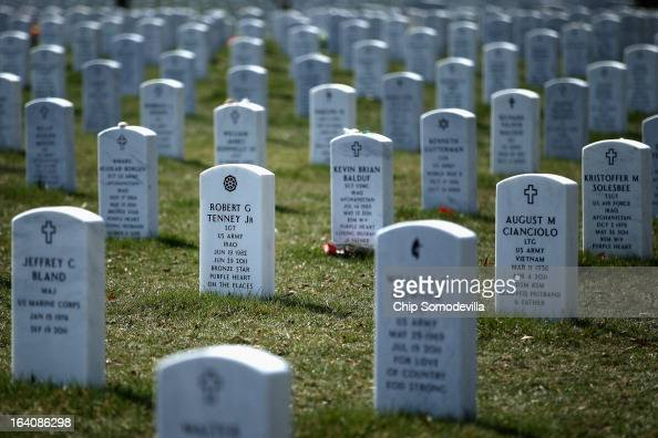 Arlington National Cemetary's Section 60 is where most of the casualties from the Iraq and Afghanistan wars are buried March 19 2013 in Arlington...