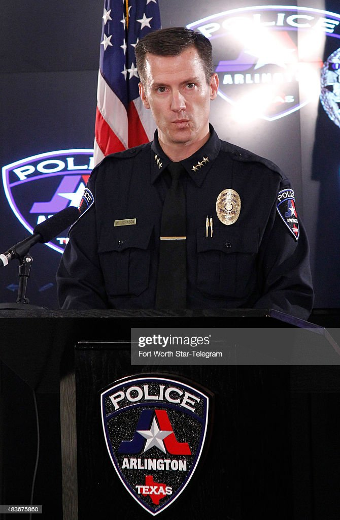 Arlington Police Chief Will Johnson gives more details in the shooting of Christian Taylor at a news conference on Tuesday Aug 11 in Arlington Texas