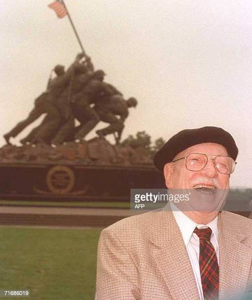 File picture of US Joe Rosenthal the Pulitzer Prizewinning photographer who made the photograph during the World War II battle for the Pacific island...