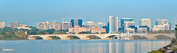 Arlington Virginia Skyline Looking North on the Potomac River
