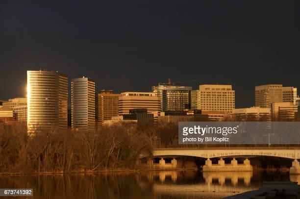 Arlington Virginia with river and bridge