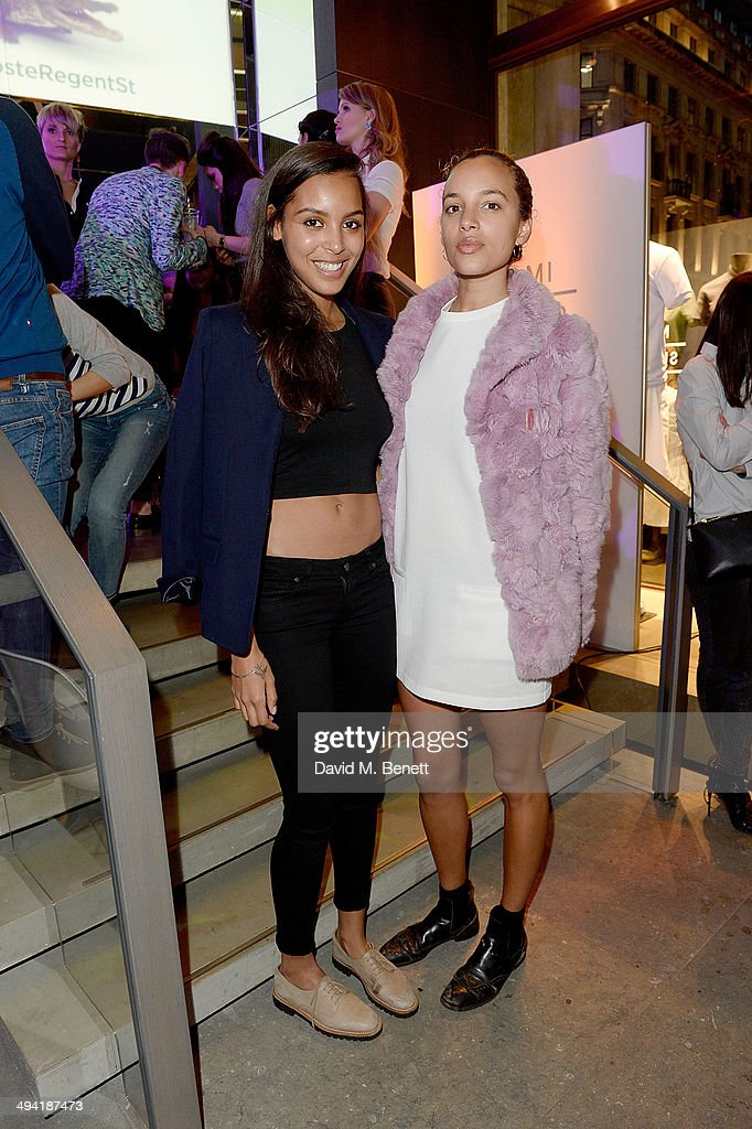 Arlissa and Phoebe Collings-James attend the Lacoste Store Reopening on May 28, 2014 in London, England.