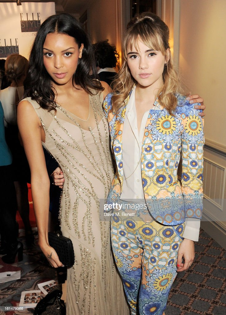 Arlissa (L) and Suki Waterhouse arrive at the Elle Style Awards at The Savoy Hotel on February 11, 2013 in London, England.