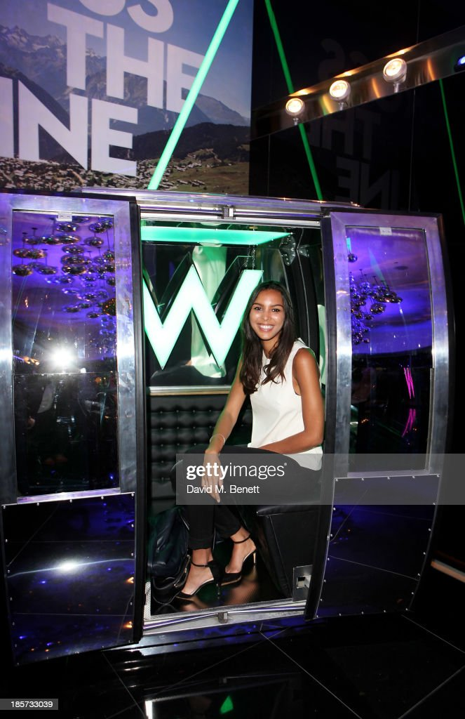 Arlissa attends the launch of the W Republic of Verbier takeover at W London - Leicester Square on October 24, 2013 in London, England.