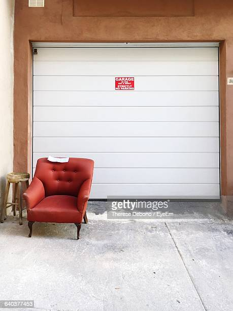 Arm Chair In Front Garage