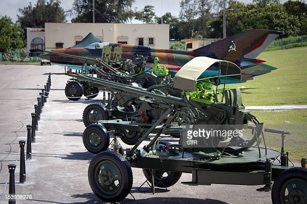 Armament deployed during the missile crisis of 1962 is displayed at Morro Cabana complex on October 11 2012 in Havana Cuba celebrates this year the...