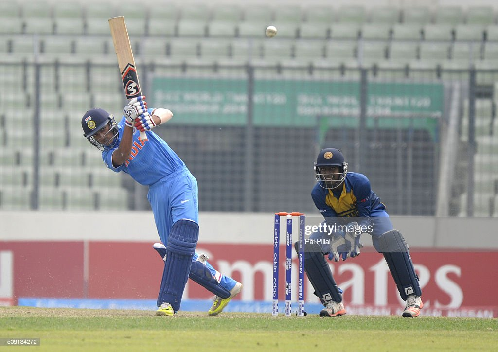 Arman Jaffer of India bats during the ICC U19 World Cup Semi-Final match between India and Sri Lanka on February 9, 2016 in Dhaka, Bangladesh.
