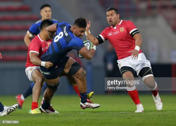 Armanaki Lelei Mafi of Japan during the international match between Japan and Tonga at Stade Ernest Wallon on November 18 2017 in Toulouse Kanagawa...